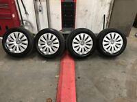 5x112 Volkswagen Steel wheels with Trims **Fits Volkswagen, Audi, Seat, Skoda)