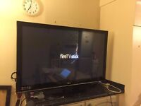 LG 50PS3000 50-inch Widescreen Full HD 1080p Plasma TV with Freeview - Black / Titan Silver Trim