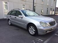 2001 MERCEDES BENZ C180 CLASSIC ESTATE 2.0 12 MONTHS MOT, FULL SERVICE HISTORY, AUTOMATIC