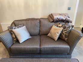 2 Sofa's & Ottoman As New