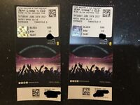 2 Jeff Lynnes ELO Tickets Wembley 24/06/17
