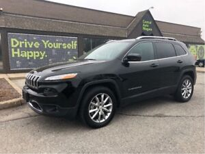 2017 Jeep Cherokee Limited / 4X4 / LEATHER/ SUNROOF / LED LIGHTS