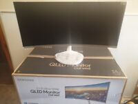 Samsung Curved QLED 34 Inch 21:9 Ultra Wide Monitor White C34J79 New In The Box