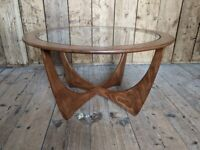 G Plan 'ASTRO' round coffee table top original condition mid Danish teak era 60s gpla