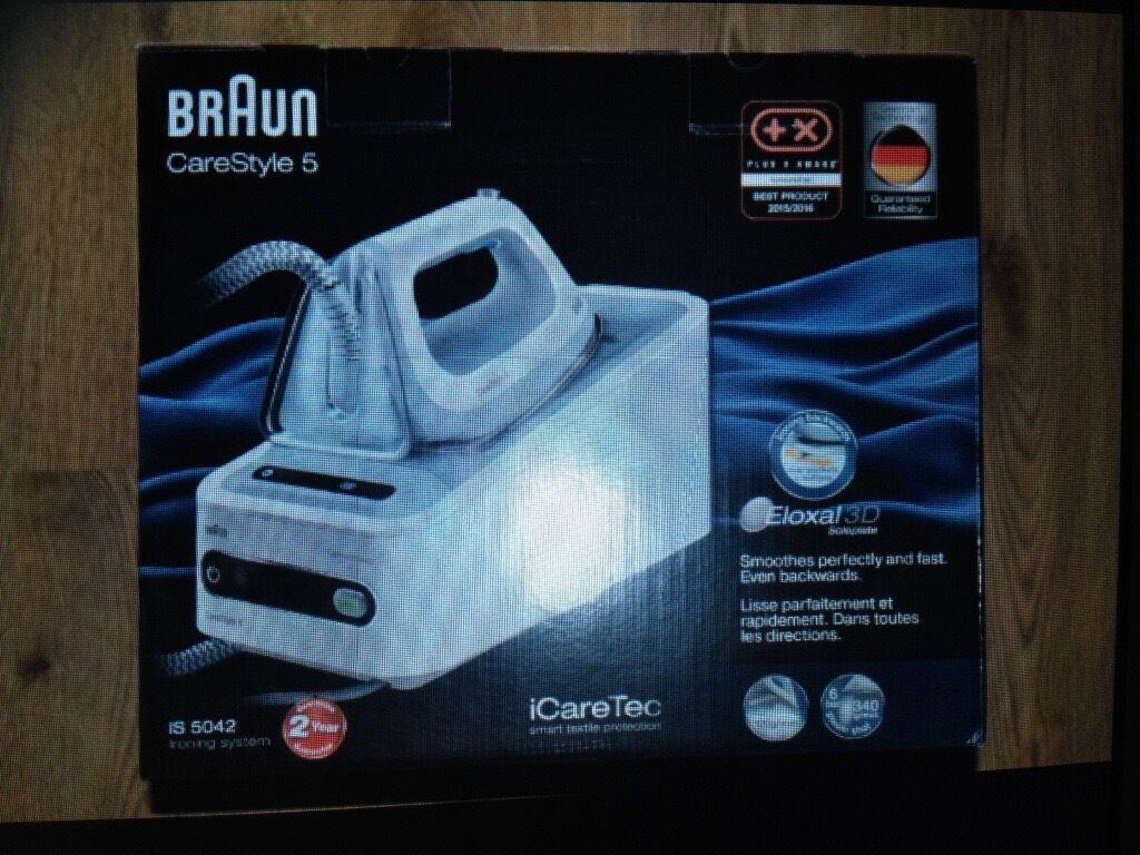 NEW!!!! BRAUN IS 5042 CareSystem5 Ironing system