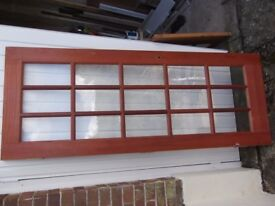 Quality 15-pane, clear glazed, hardwood internal door