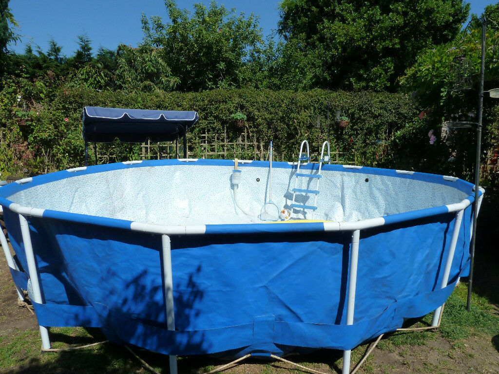 Intex Metal Frame Above Ground 15 Circular Swimming Pool