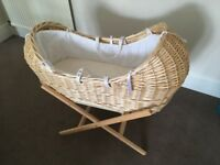 Clair de Lune Noah Pod Moses Basket - Very Good Condition