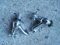 Sink/bath taps. Victorian style. Pair hot and cold. Two sets available