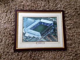 Framed picture of the old St. Andrews football stadium, size 28inch x 18inch