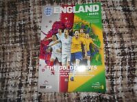 England v Brazil. Mint condition football programme played at Wembley 14th November 2017