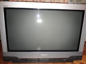 """panasonic 36"""" tv in good working order+remote...very heavy big back type picture in picture feature"""
