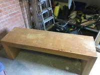 Next Solid Oak Long Coffee Table