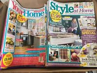Job Lot of 34 Home & Interior Magazines - Free to Collector