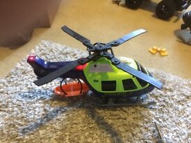 Toy police rescue helicopter with lights and sounds