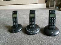 BT GRAPHITE 2500 TRIO CORDLESS PHONE