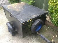 Cheap all metal trailer + lid & spare wheel