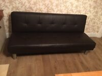 Price reduced - Faux leather sofa bed