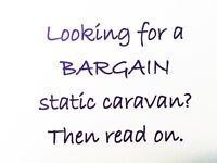 Bargain static caravan for sale for only £279 per month. Berwickshire. Scotland. West Lothian.