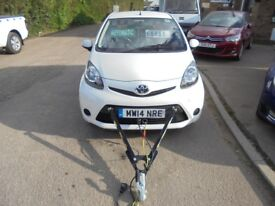 2014 14 toyota aygo 1.0 move semi auto, braked a frame tow car for your motorhome, only 11,000 miles
