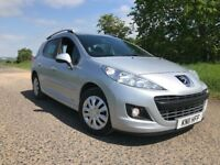 £20 TAX! DIESEL ESTATE 2011 PEUGEOT 207 SW 1.6 HDI LOW MILLEAGE IMMACULATE CONDITION