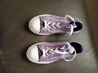 Converse Lilac colour Uk size 2