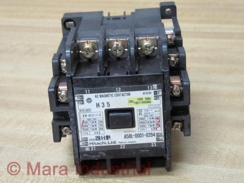 Hitachi A58L-0001-0294 Magnetic Contactor A58L00010294