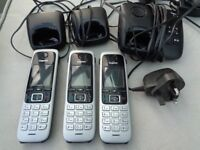 GIGASET C430A Trio Cordless Phone with Answering Machine Triple silver Handsets