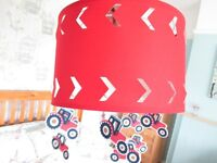 Laura Ashley Tractors and Trucks Childrens Lampshade