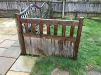 4 fence panels and gate