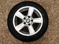BMW 1 Series E81 E87 Alloy wheels + TYRES EXCELLENT Condition