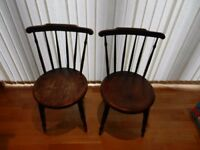ANTIQUE CHAIRS --- ONE PAIR.