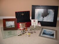 Job lot photo frames Jean Guichard framed photo necklace earings necklace and box