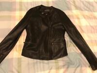 Ladies new look leather look size 12 jacket
