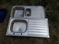 Two Steel Sinks / Kitchen sink - £10 the pair - Collection from GL54QQ