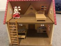 Sylvanian Families House with furniture & figure