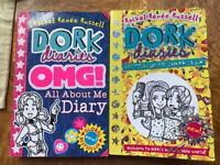 Dork diaries x 2 paper back