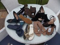 10 pairs of shoes mostly size 5