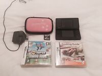 Nintendo DS with lots of games, case and charger.