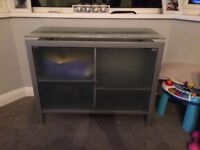 Glass and Metal Cabinet - £10