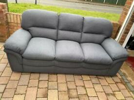 6 months old grey 3 seater sofa in excellent condition