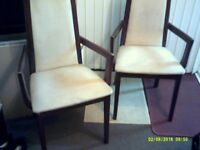 matching pair of dining room chairs