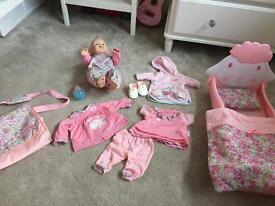 Baby Annabell and some accessories