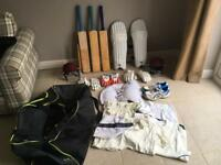 Cricket equipment job lot