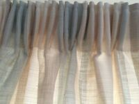 Laura Ashley Curtains Awning Stripe Duck Egg