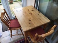 Small Pine table & chairs