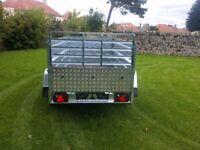 NEW Car trailers 8,7'x4,1' x 2,62 twin axle,double broadside and ramp £ 1150 inc vat