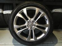 ALLOYS X 4 OF 20 INCH GENUINE AUDI Q5 SQ/S/LINE 4X4 FULLY POWDERCOATED IN A STUNNING SHADOW/CHROME