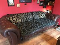 Beautiful brown Chesterfield 3-4 seater sofa