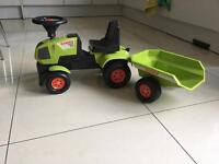 Childs Ride On Toy Tractor Trailer